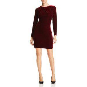 Tahari Wine Red Velvet Valentines Day Sheath Dress